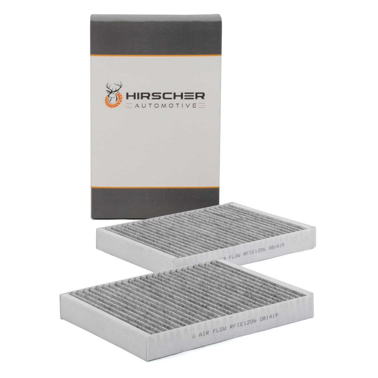 HIRSCHER Innenraumfilter Aktivkohle Satz MERCEDES S-Klasse W221 W222 2218300718