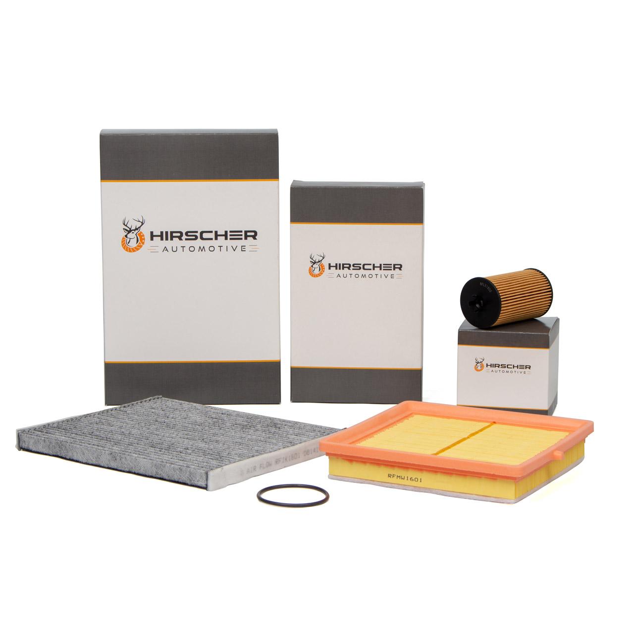 HIRSCHER Filterset OPEL Adam (M13) 1.2 + 1.4 + 1.4 LPG + 1.4 S 69-150 PS