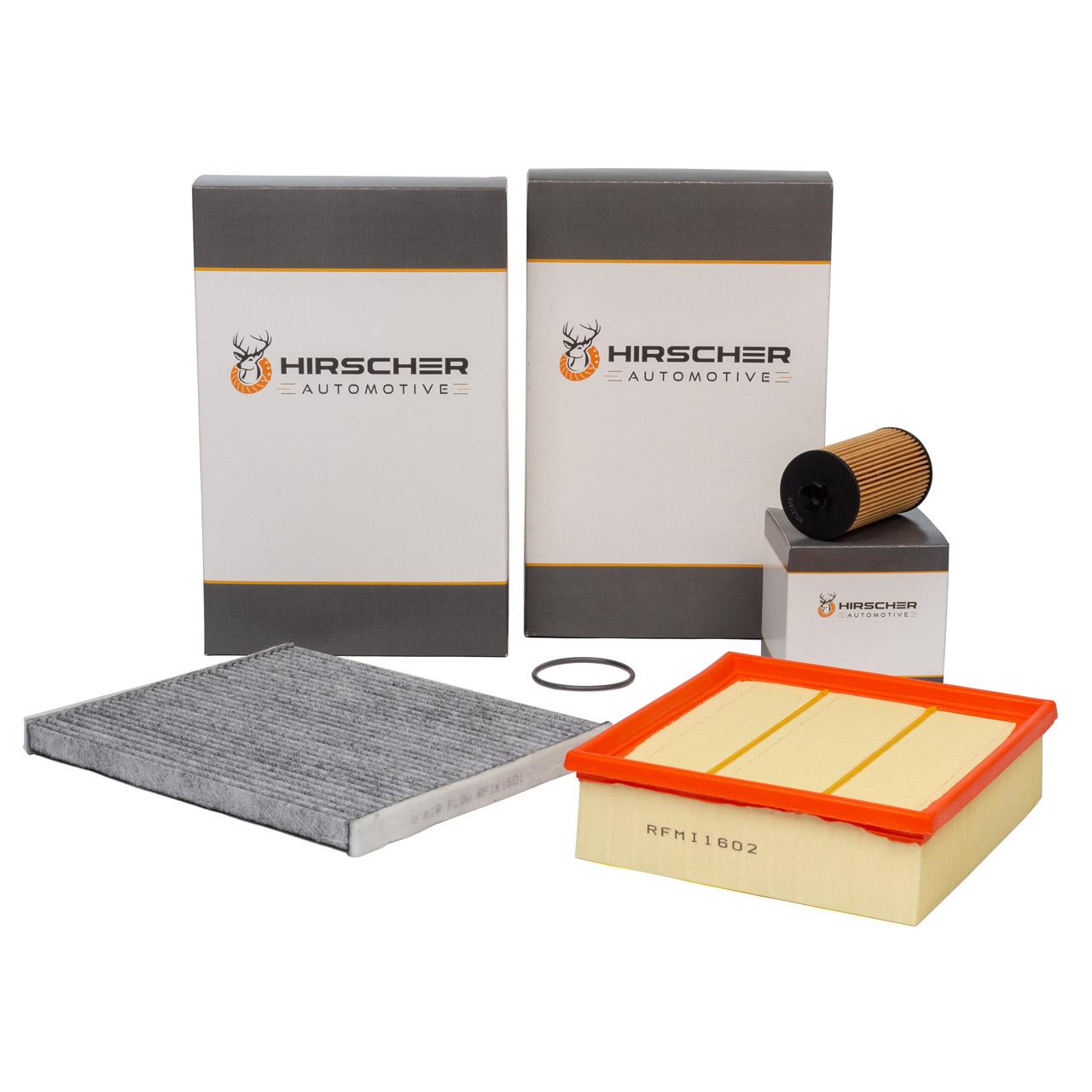 HIRSCHER Filterset OPEL Corsa D 1.0 1.2 1.4 ab Motor 19MA9235 + Corsa E 1.2 1.4