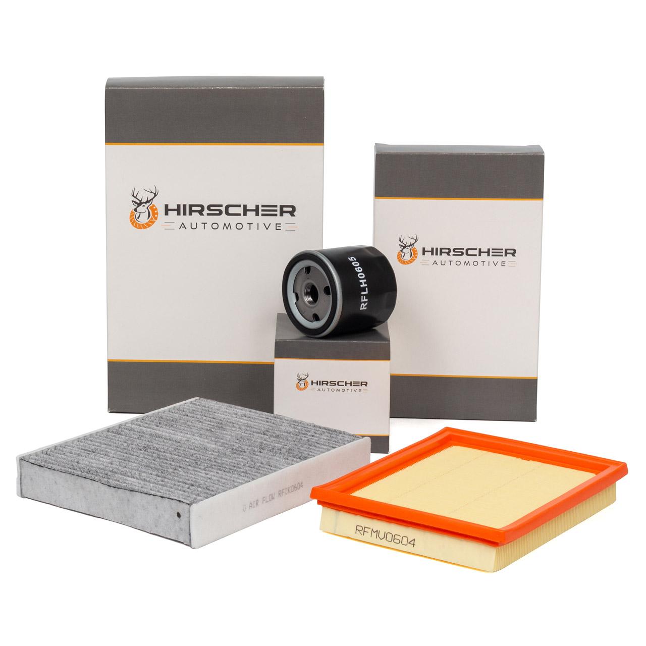 HIRSCHER Filterset FORD Fiesta 5 MK5 Fusion JU 1.25 16V + 1.4 16V + 1.6 16V