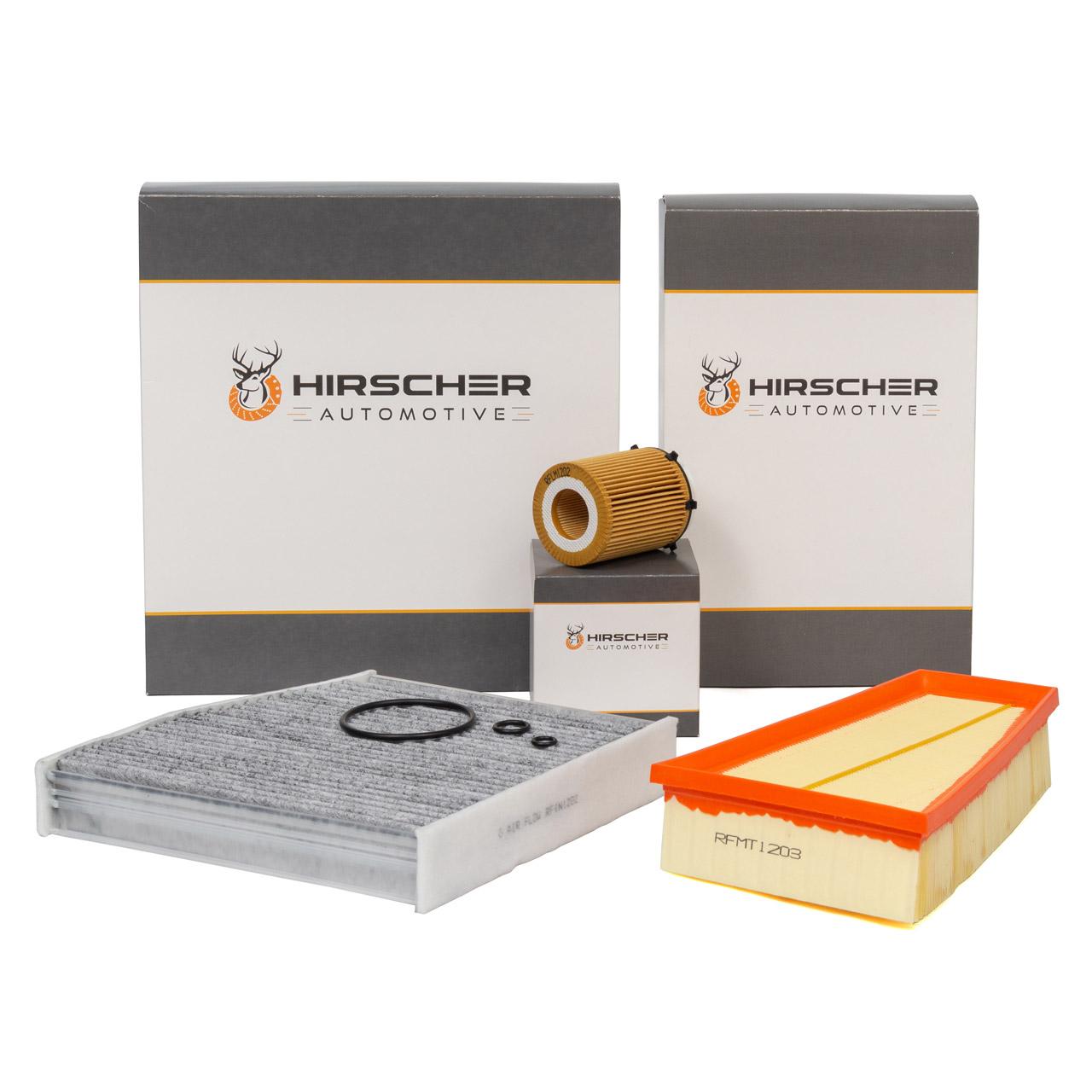 HIRSCHER Filterset für MERCEDES W176 W246 C117 X117 X156 160-250 102-218 PS M270