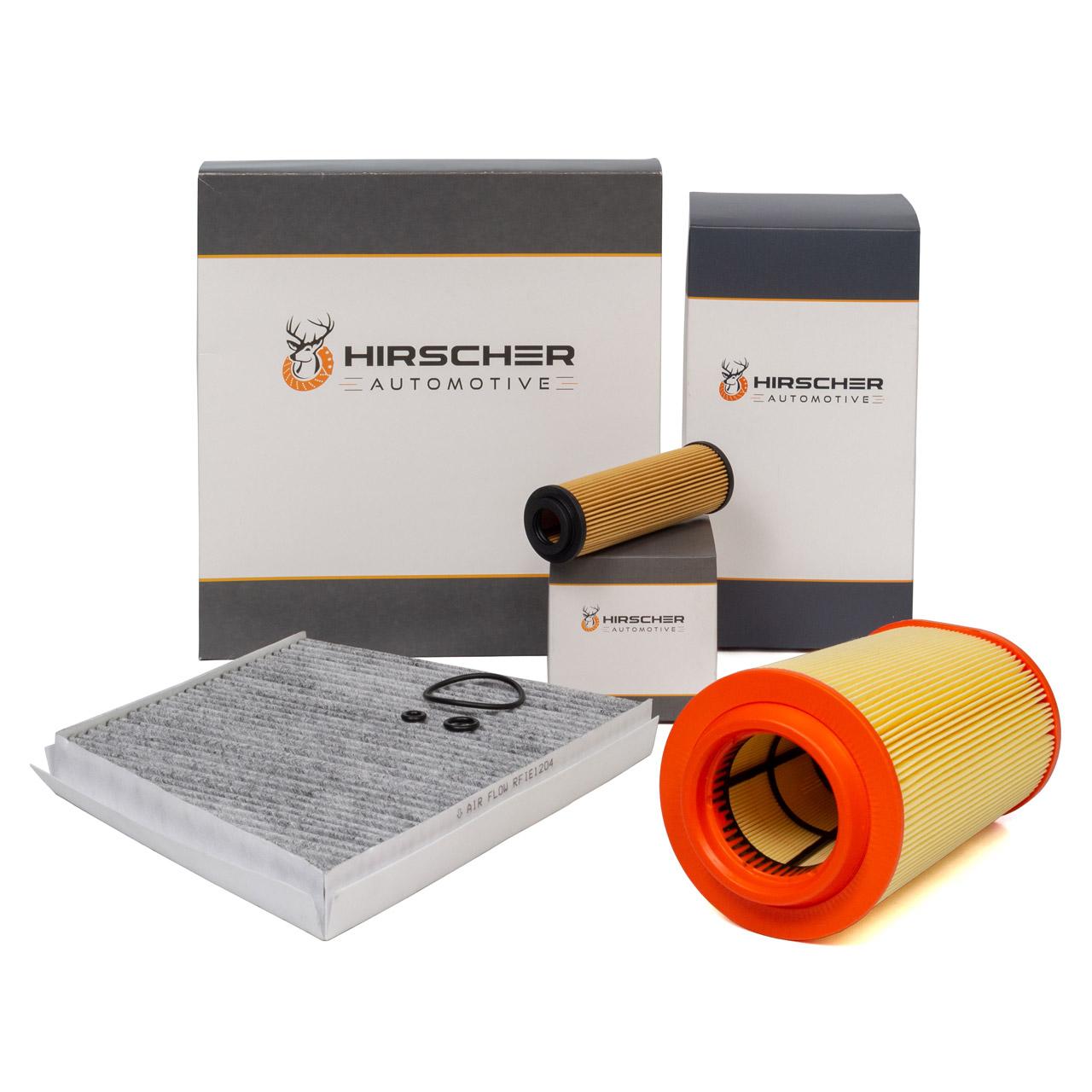 HIRSCHER Filterset MERCEDES W211 200 Kompressor 163/184 PS + 200 NGT 163 PS