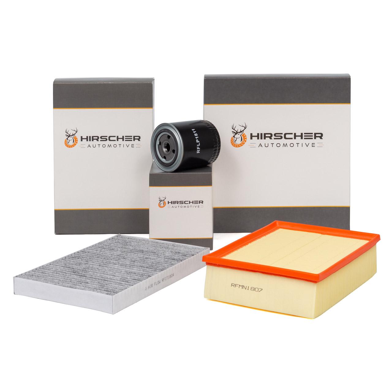 HIRSCHER Filterset Filterpaket AUDI A4 B6 B7 2.4 163/170 PS + 3.0 218/220 PS