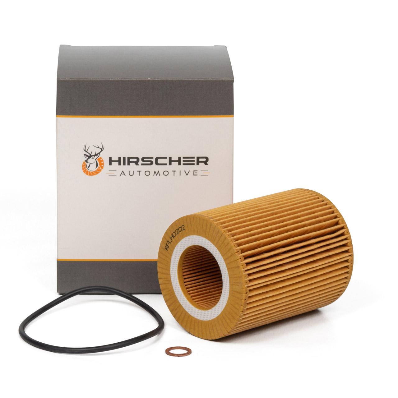 HIRSCHER Ölfilter BMW 3er E36 E46 5er E39 E60 E61 20-30i M50 M52 M54 11427512300