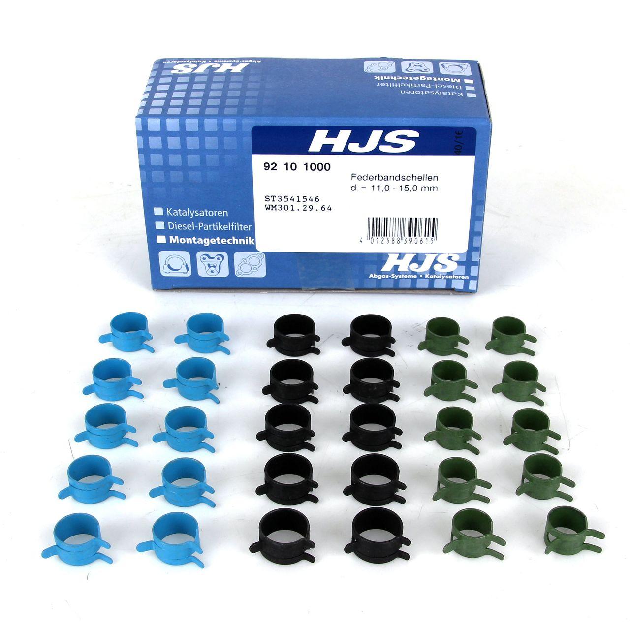 HJS Schlauchverbindersatz Federbandschellen 92101000 für Ford TDCi Drucksensor