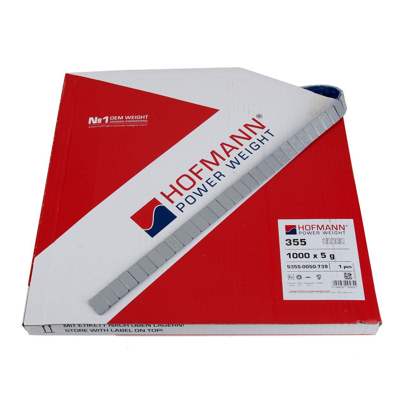 HOFMANN Auswuchtgewichte Klebegewichte SILBER-STAHL 3,8mm | 1000 Stück x 5g