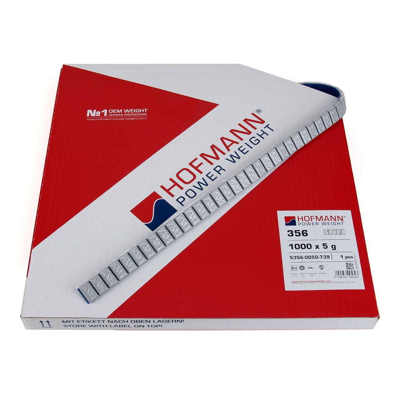 HOFMANN Auswuchtgewichte Klebegewichte SILBER-ZINK 4,6mm | 1000 Stück x 5g
