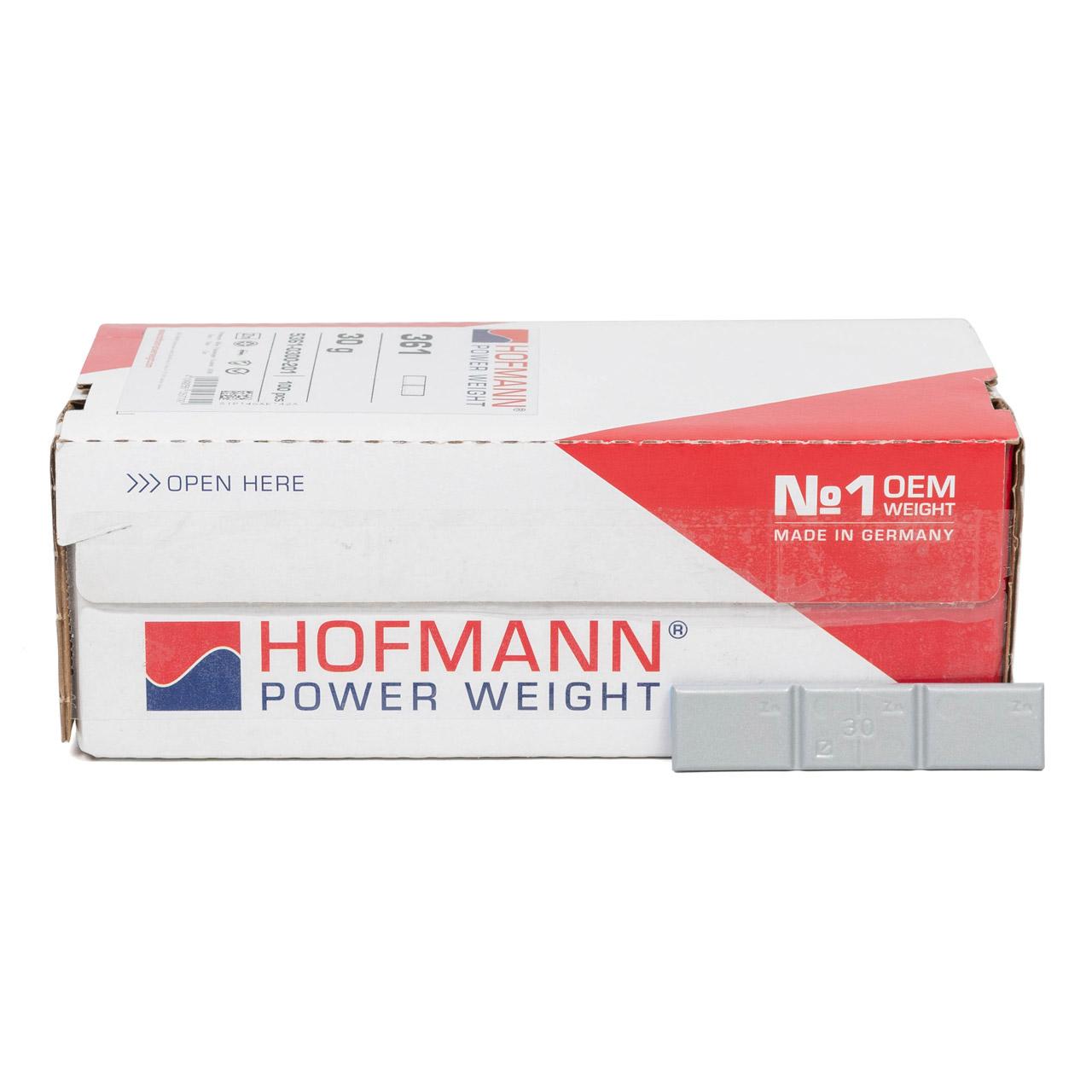 HOFMANN Auswuchtgewicht Klebegewicht Kleberiegel GRAU-ZINK 100 Stück x 30g