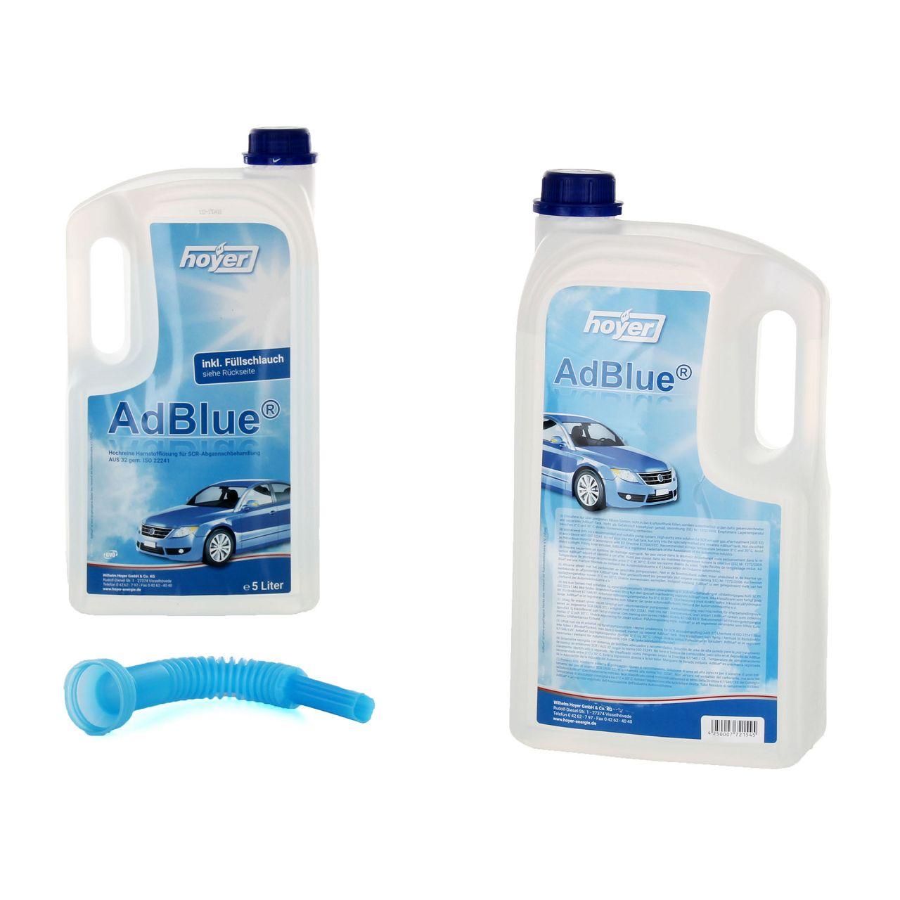 2x 5 Liter AdBlue® NOX-Reduktionsmittel für Diesel-Motoren Harnstoff ISO 22241