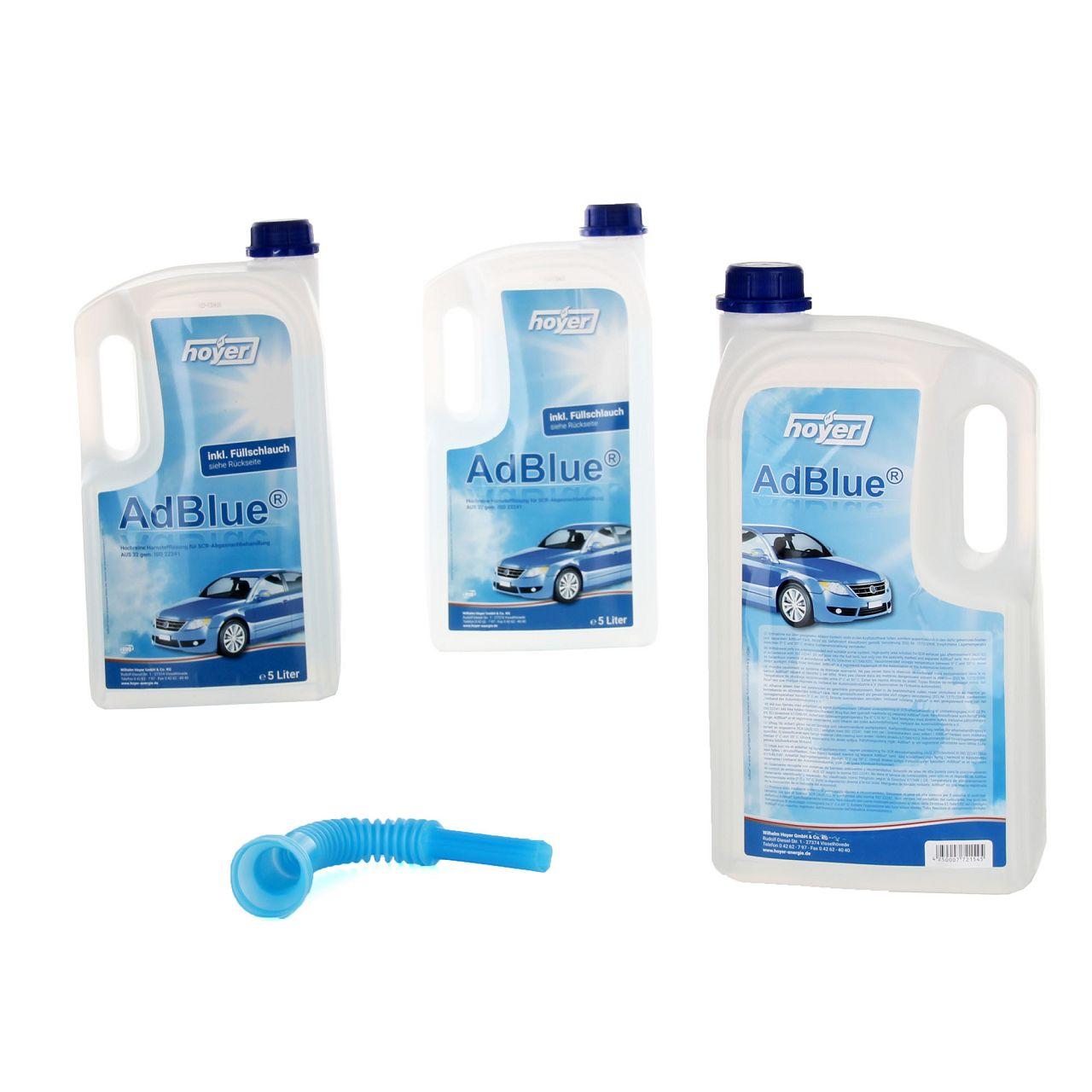 3x 5 Liter AdBlue® NOX-Reduktionsmittel für Diesel-Motoren Harnstoff ISO 22241