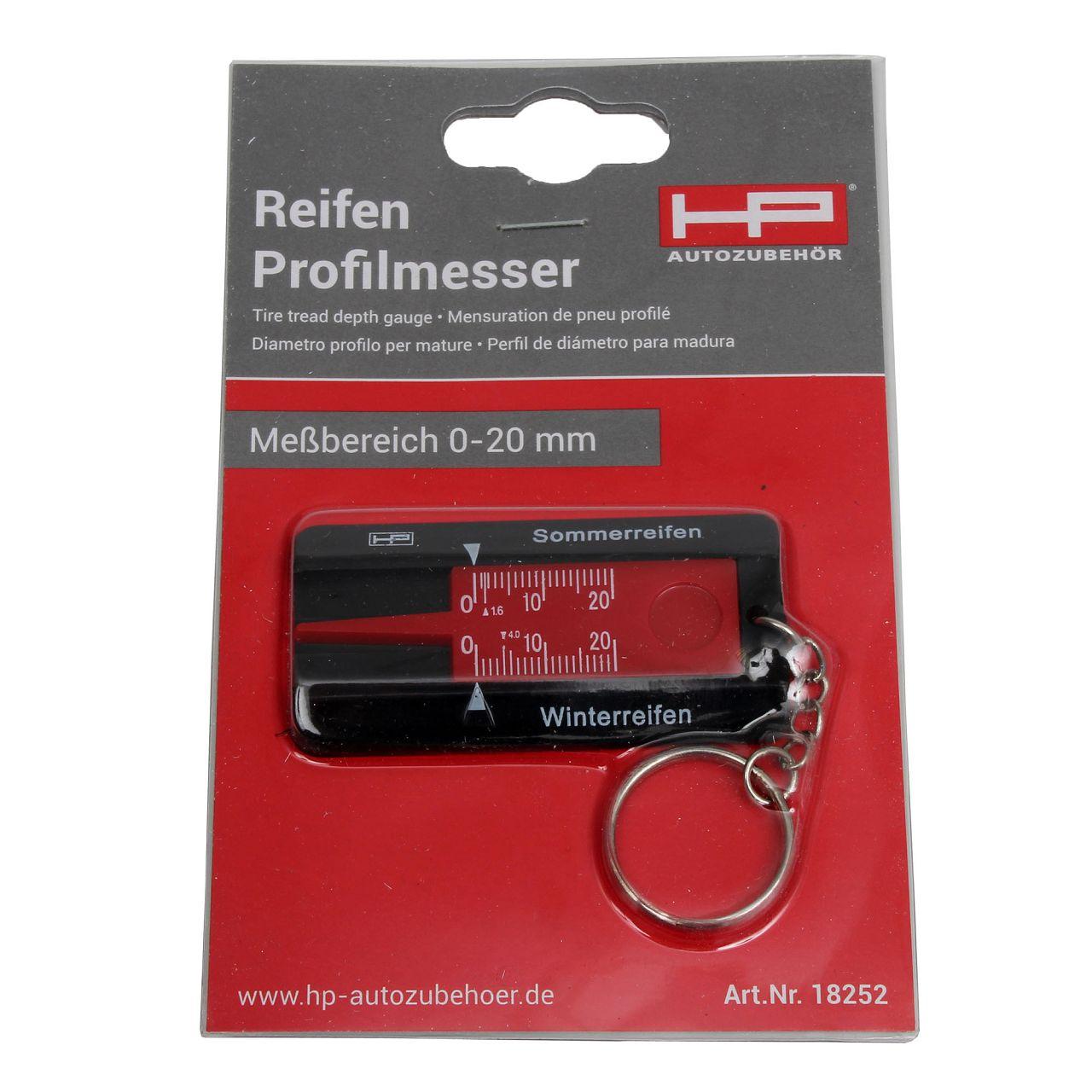 HP 18252 Reifen-Profilmesser Reifenprofilmesser Profiltiefenmesser