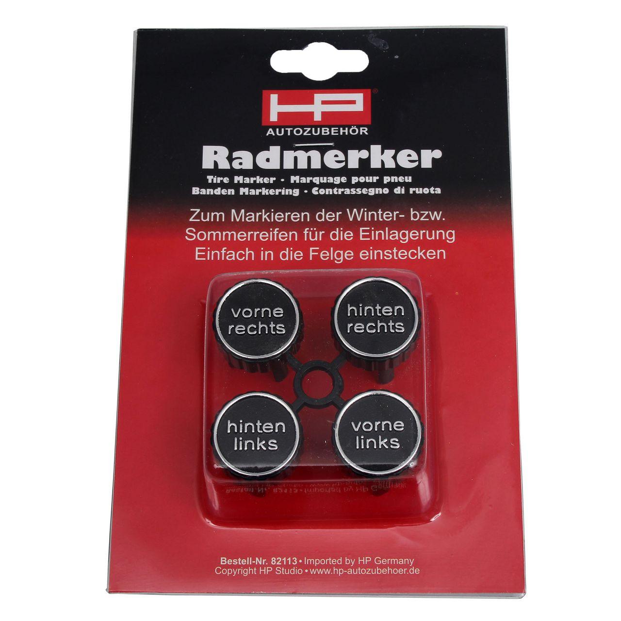 HP 82113 Radmerker-Set Nabendeckel Reifenmarkierer Radmarkierung 4-TEILIG