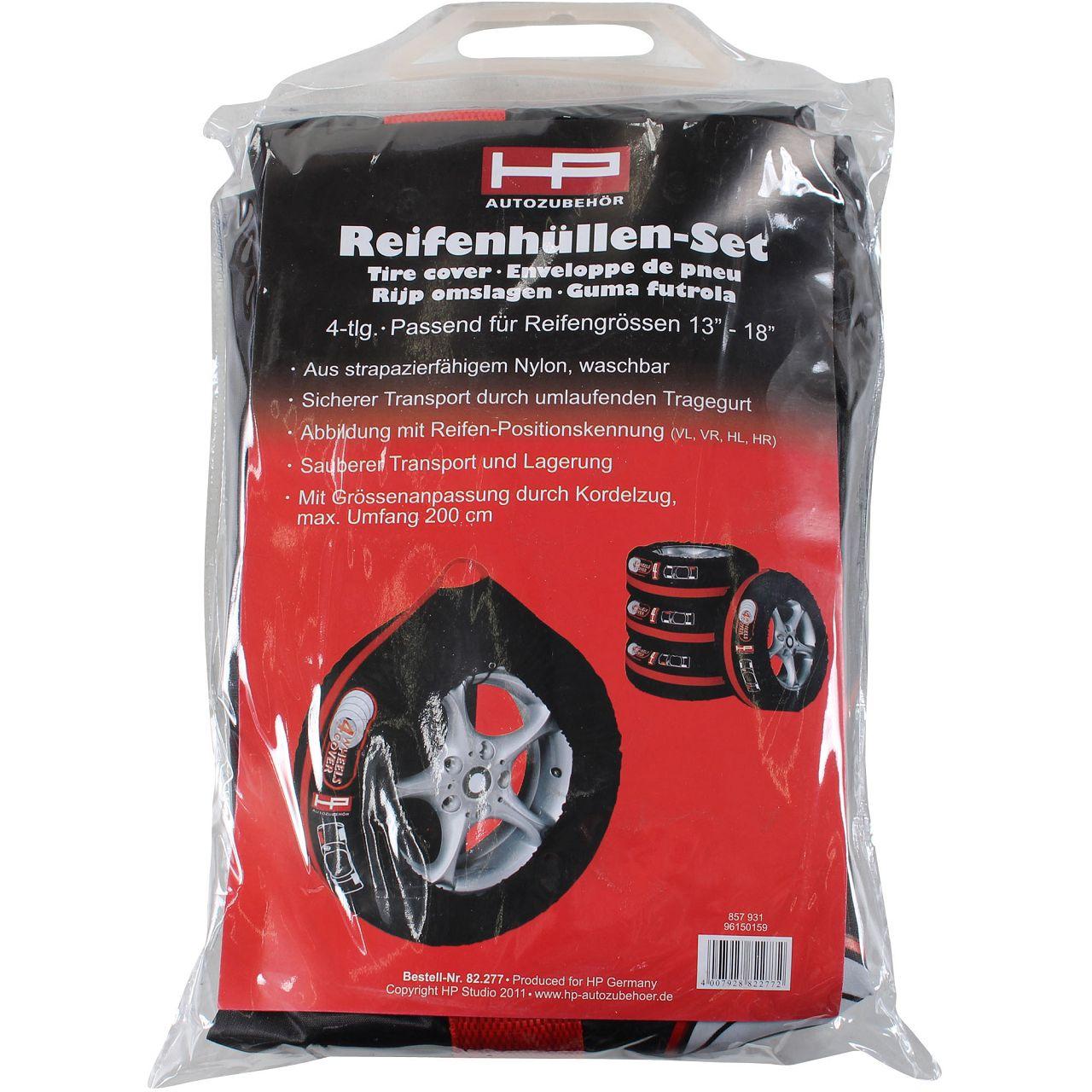 HP Reifenhüllensatz Reifentaschen Felgentasche 13-18 Zoll