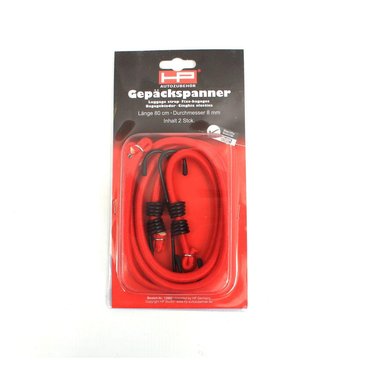 HP 12880 Expanderband Gepäckspanner Spannband Set 2x Ø 8 mm Länge 80 cm