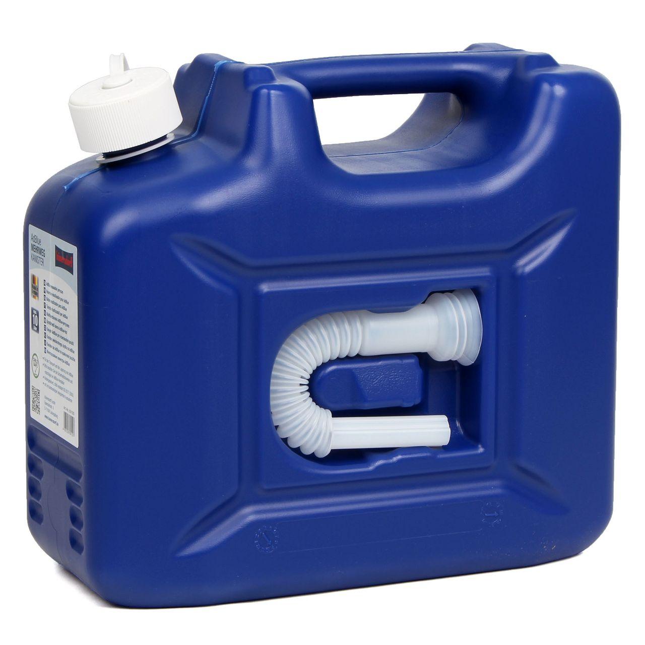 HÜNERSDORFF 801500 Kanister Reservekanister mit Auslaufrohr ADBLUE 10 L Blau