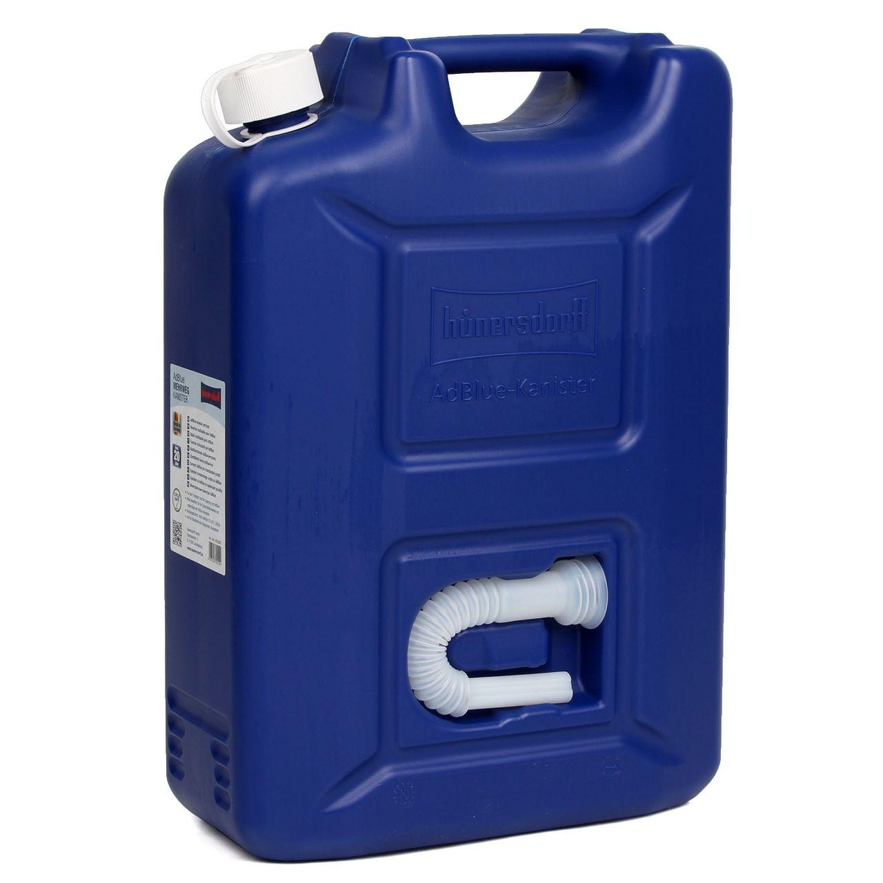 HÜNERSDORFF 802500 Kanister Benzinkanister Reservekanister ADBLUE 20 L Blau