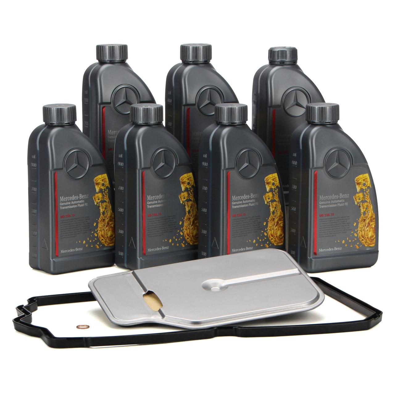 Hydraulikfilter + Dichtung + 7L ORIGINAL Mercedes Getriebeöl für 7-Gang 722.9