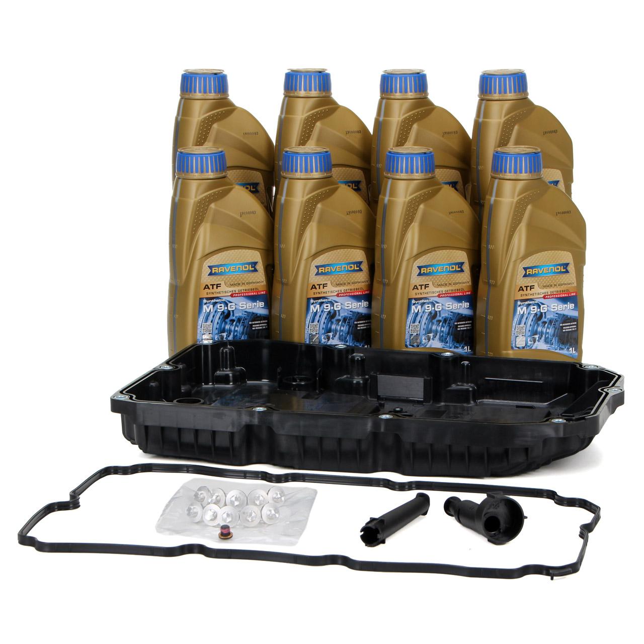 Hydraulikfilter + Dichtung + 8L RAVENOL Getriebeöl ATF M 9-G SERIE MB 236.17