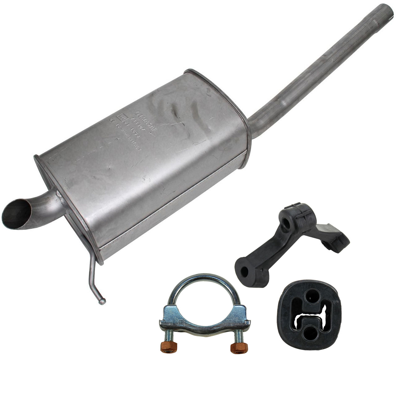 IMASAF Endschalldämpfer + Anbausatz VW Caddy 3 1.6 TDI + 2.0 TDI 75-170 PS