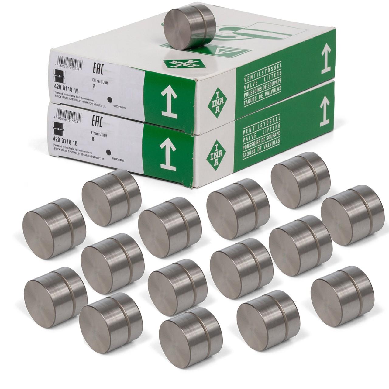 16x INA 420011810 Ventilstössel für OPEL ASTRA CORSA OMEGA SIGNUM VECTRA ZAFIRA