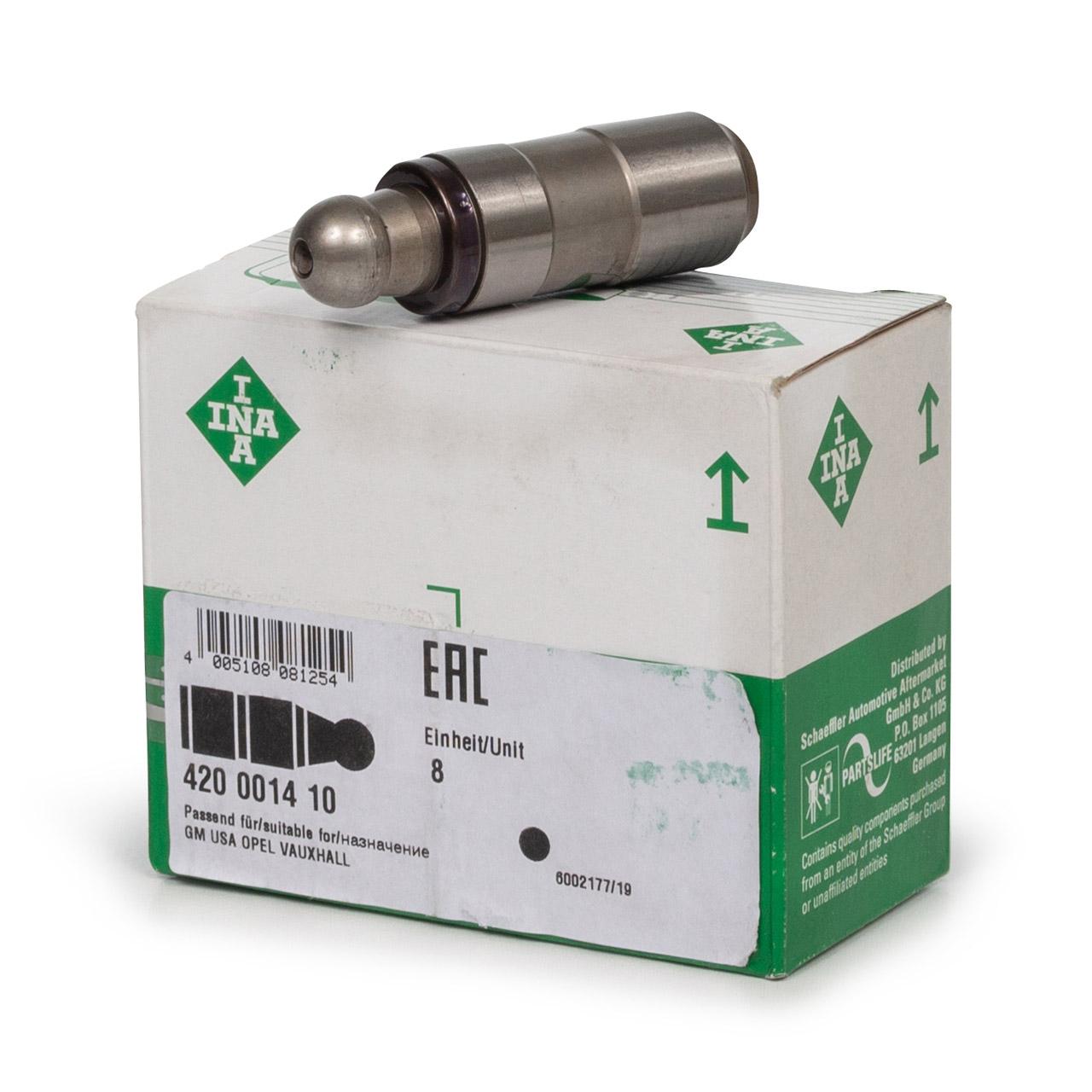 8x INA 420001410 Ventilstössel für OPEL ASTRA F G CORSA A B OMEGA A B VECTRA A B