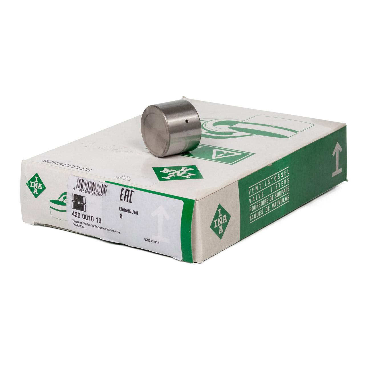 8x INA 420001010 Ventilstössel PORSCHE 928 5.0 5.4 944 2.5 S 3.0 S2 968 3.0