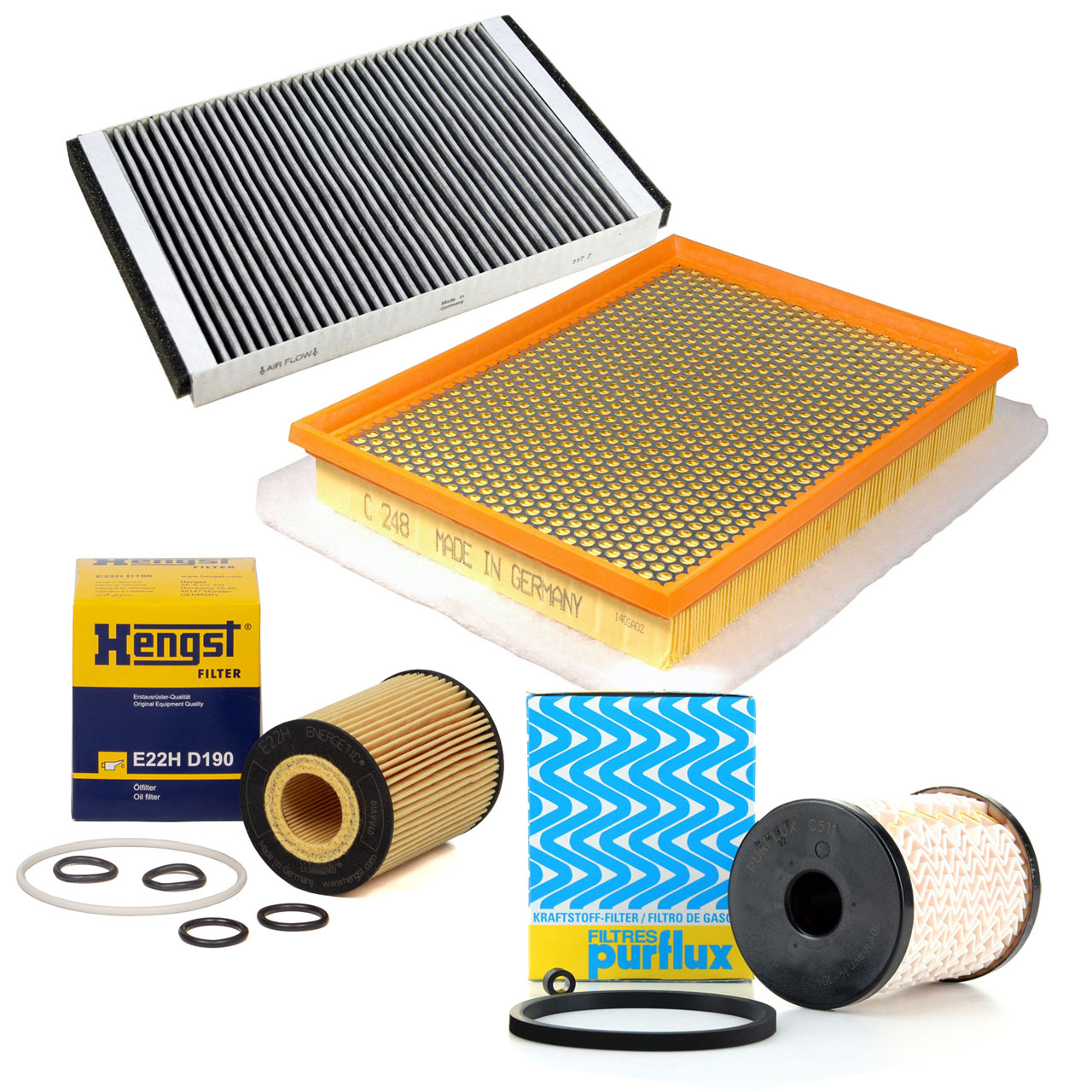 Inspektionskit Filterpaket Filterset DELPHI für OPEL Astra H 1.7 CDTI 110/125 PS