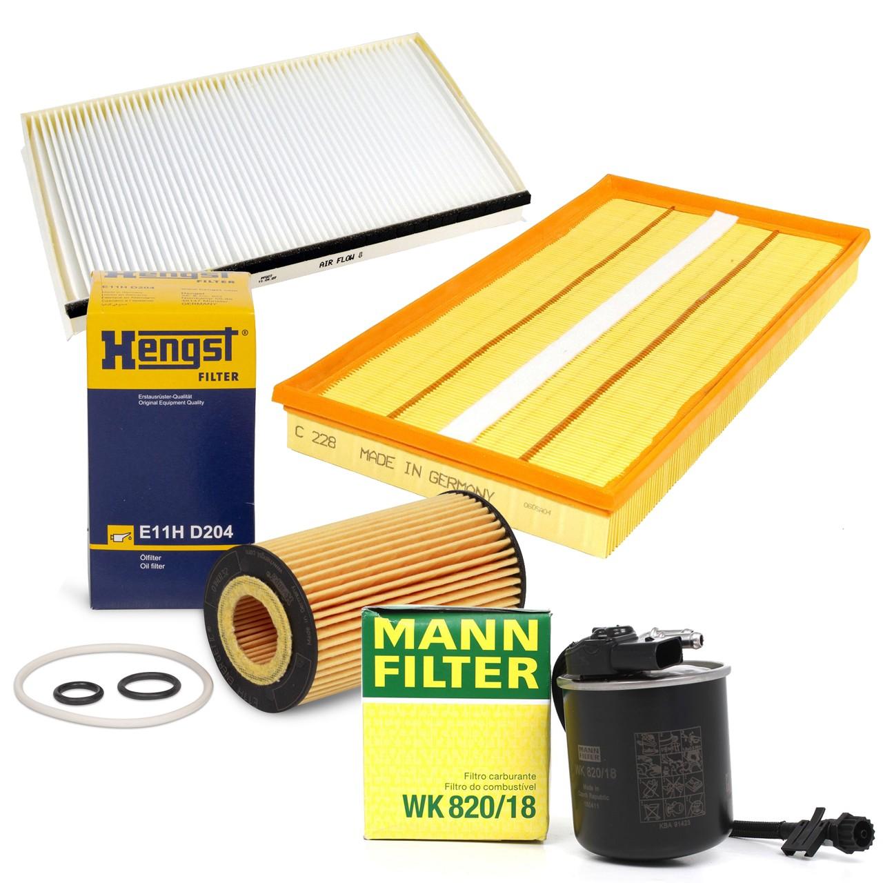 Filterset 4-tlg MERCEDES Viano CDI 2.0 CDI 2.2 Vito / Mixto 110/113/116CDI W639 OM651