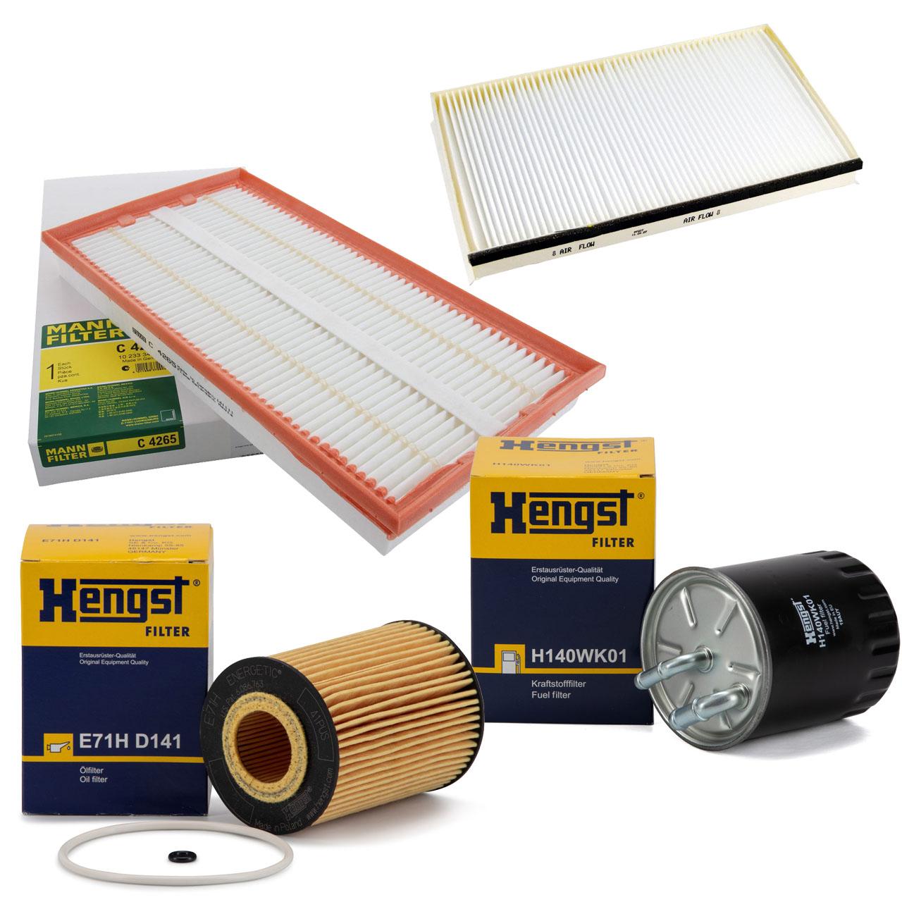 Inspektionskit 4-tlg MERCEDES VIANO CDI 3.0 VITO / MIXTO 120/122 CDI W639 OM642