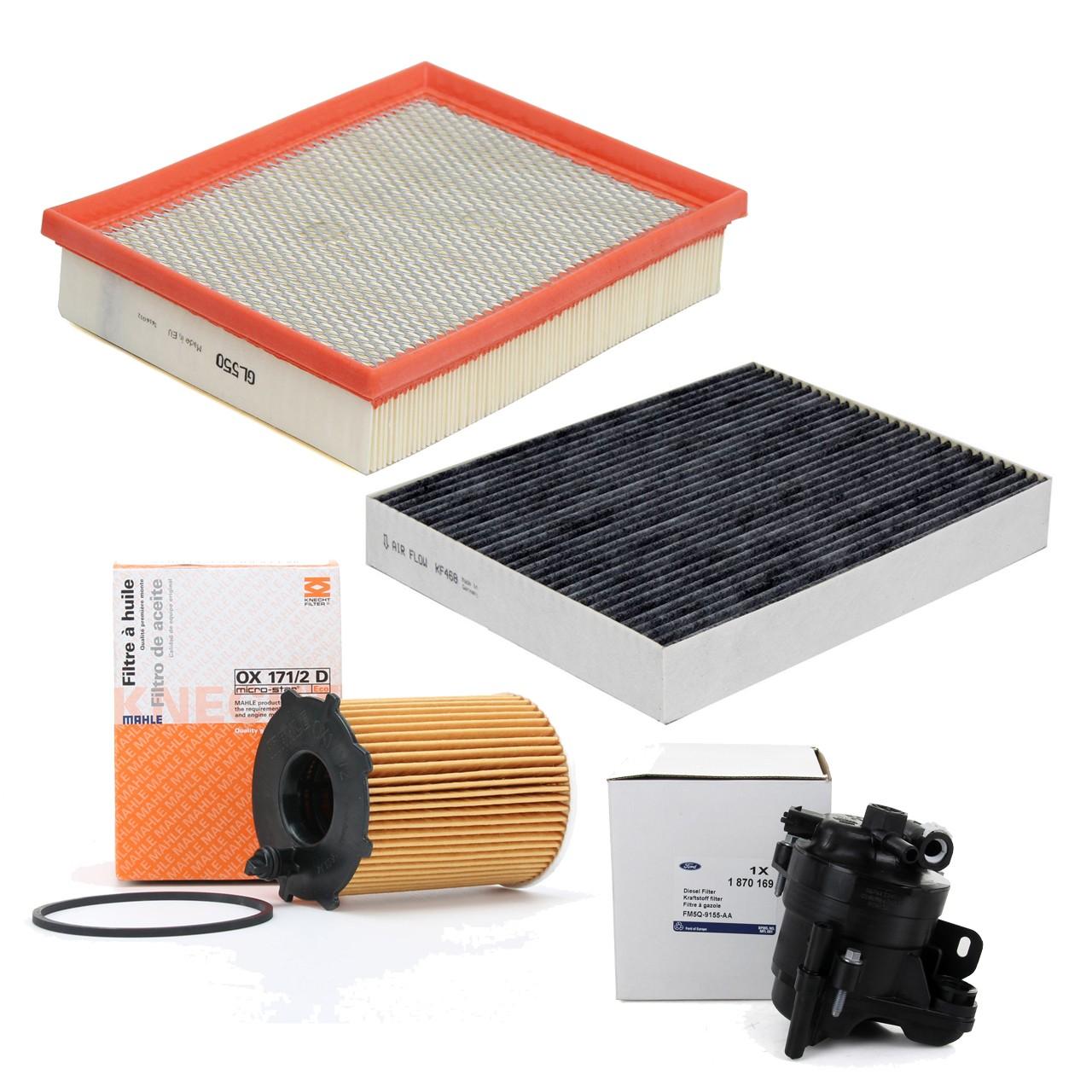 Inspektionskit Filterpaket Filterset für Ford Mondeo V MK5 1.5TDCi 120 PS