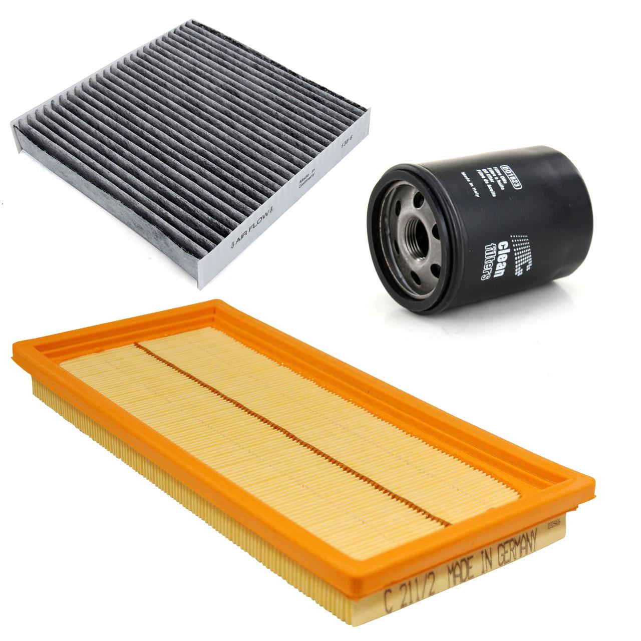 Inspektionskit Filterpaket Filterset für Fiat 500 / C (312) 1.4 100PS ab 11.2012