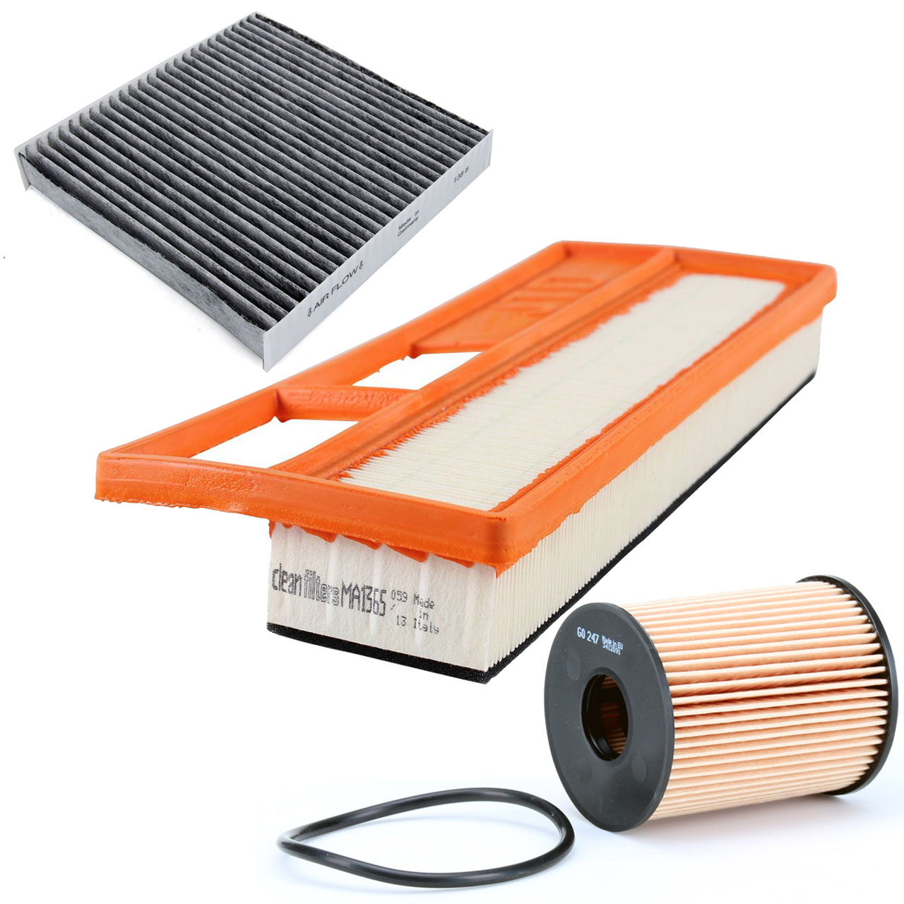 Inspektionskit Filterpaket für Fiat 500 / C (312) 1.3D Multijet 75 PS ab 11.2012