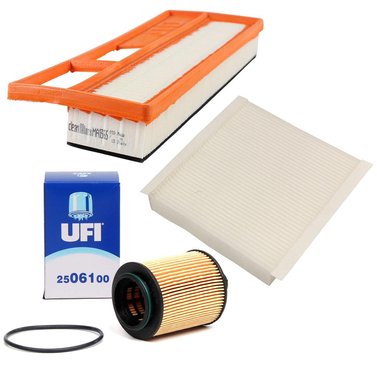 Inspektionskit Filterpaket Filterset für Fiat Doblo Fiorino 1.3D Multijet 90PS