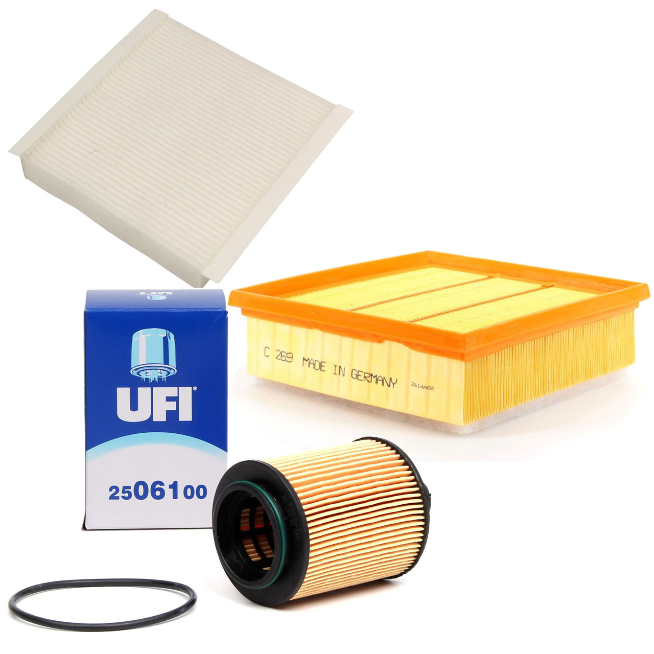Inspektionskit Filterpaket Filterset für Fiat Doblo Linea 1.6D Multijet 90-105PS