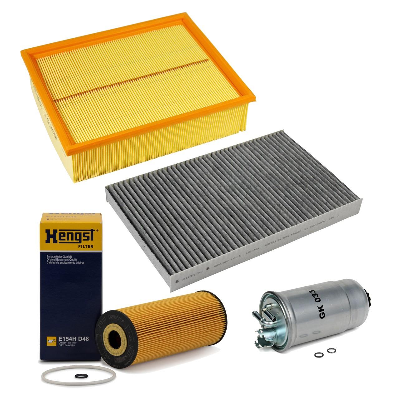 Inspektionskit Filterpaket Filterset für Audi A4 8E B6 B7 1.9/2.0TDI 101-140 PS