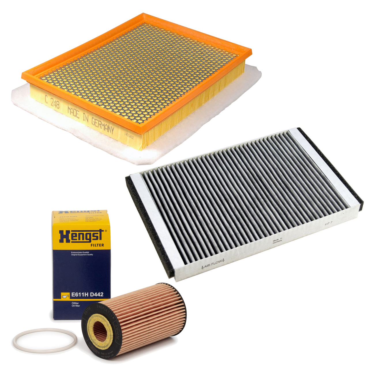 Inspektionskit Filterpaket Filterset DELPHI für OPEL Astra H 1.6 Turbo 180 PS