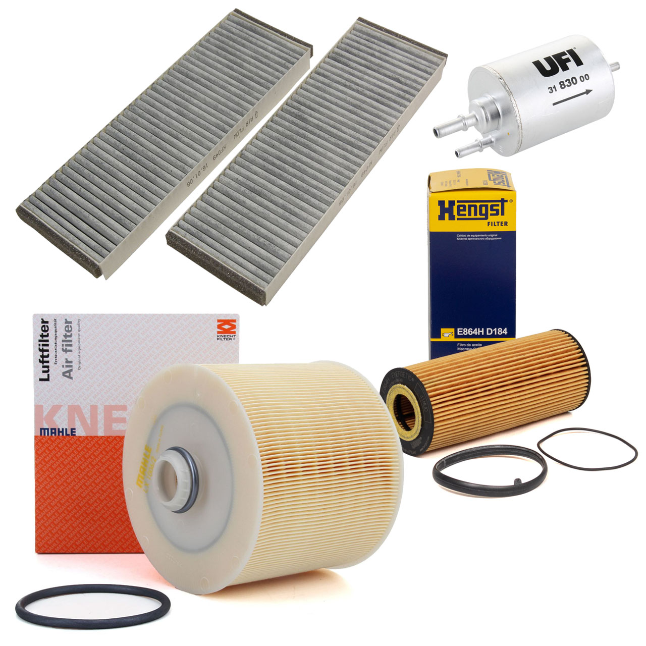 Inspektionskit Filterpaket Filterset für AUDI A6 4F C6 2.4 / 2.4 quattro 177 PS