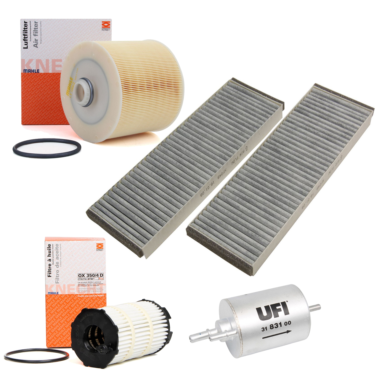 Inspektionskit Filterpaket für Audi A6 (4F C6) 4.2FSI 350 PS mit Klimaautomatik