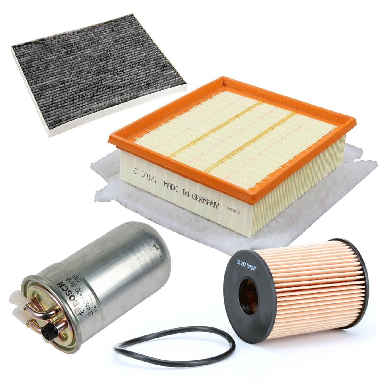 Filterset 4-tlg OPEL Corsa D 1.3 CDTI 75/90 PS ab Fgst. 96129270 mit PURFLUX-System