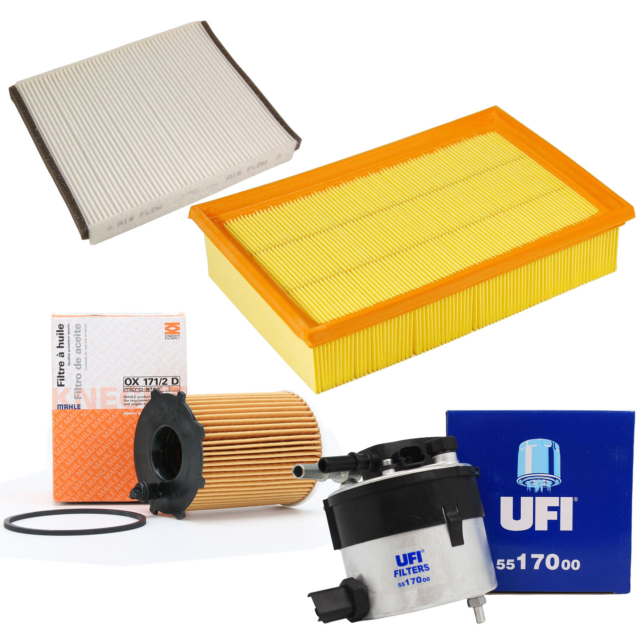 Inspektionskit Filterpaket Filterset für Ford Focus II Volvo C30 S40 II V50 1.6D
