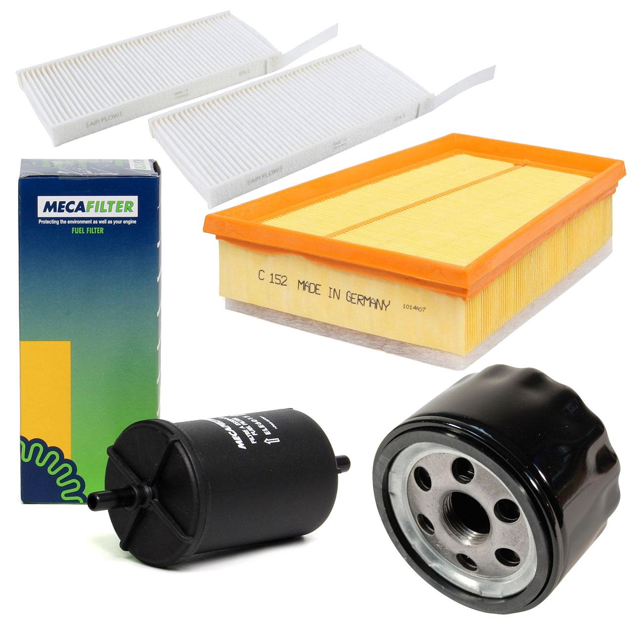 Inspektionskit Filterpaket Filterset für RENAULT KANGOO 1.6 87 PS ab 02.2008