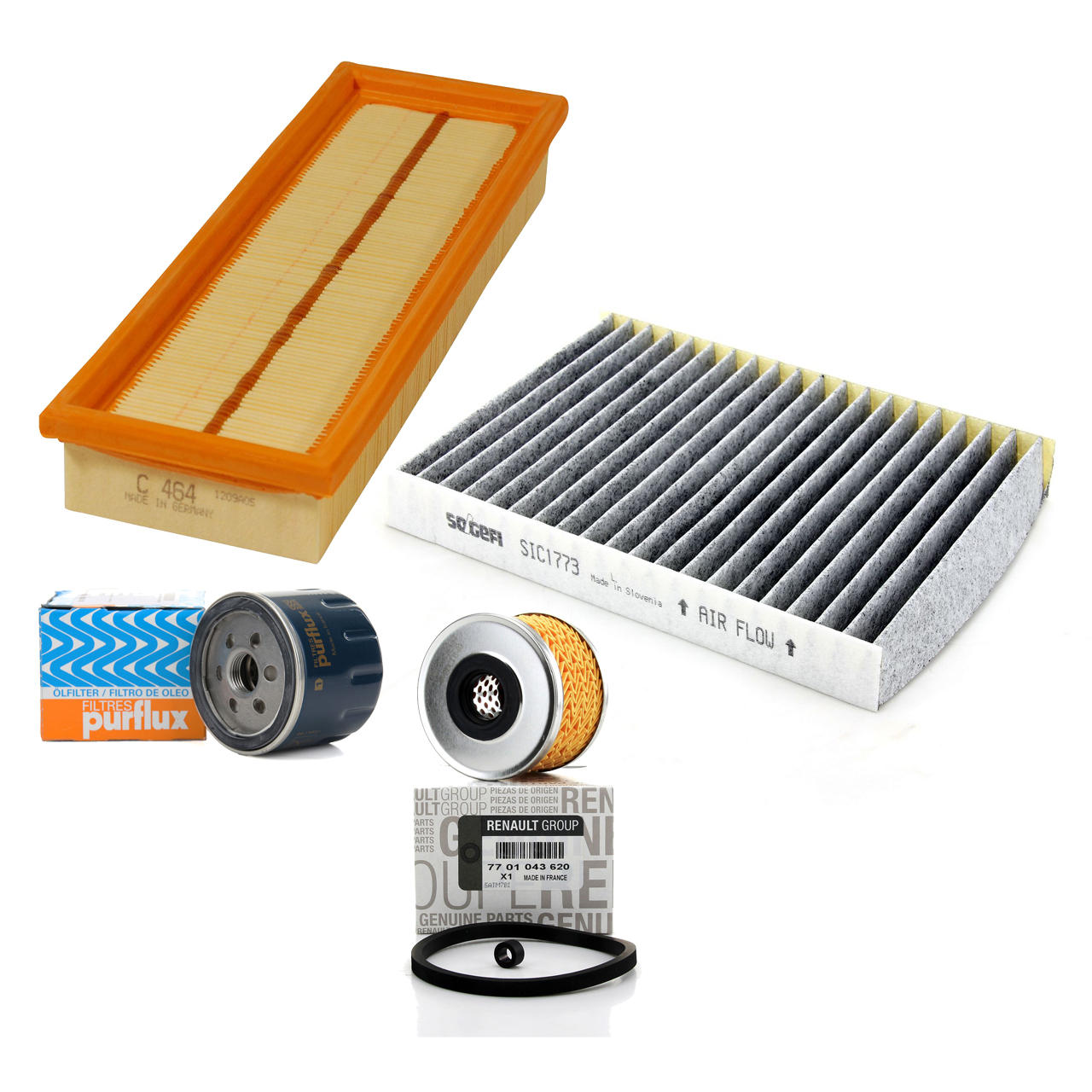 Filterpaket Filterset für Renault Clio II Kangoo Megane I 1.9dCi/dTi
