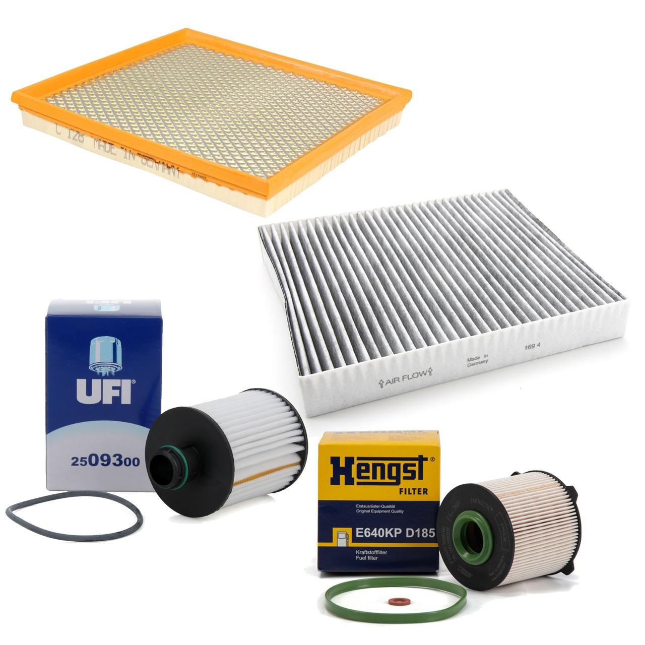 Inspektionskit Filterpaket Filterset für Opel Astra J Cascada Zafira C 2.0CDTI