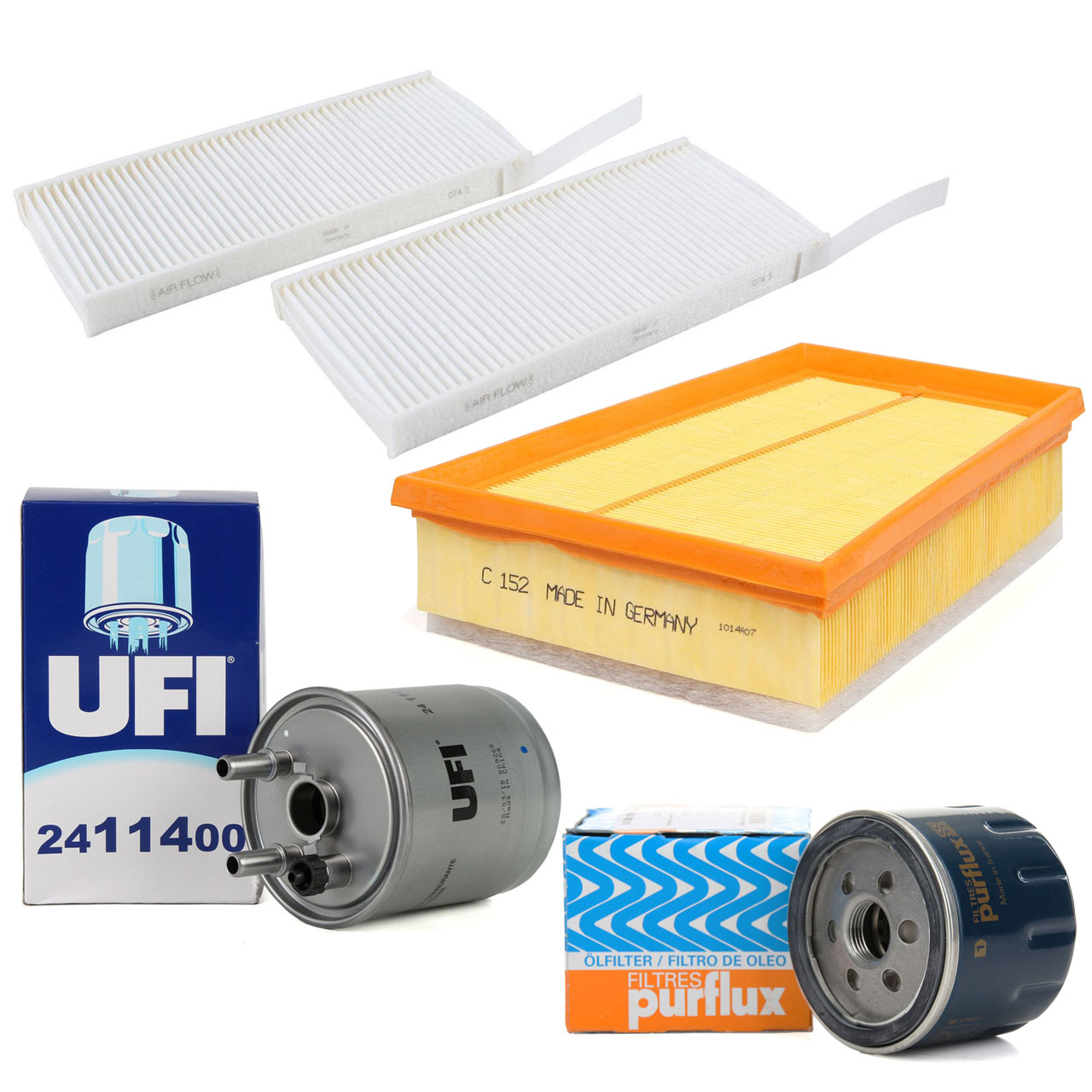 Filterpaket Filterset für RENAULT KANGOO 1.5 dCi 68-110 PS ab 05.2009