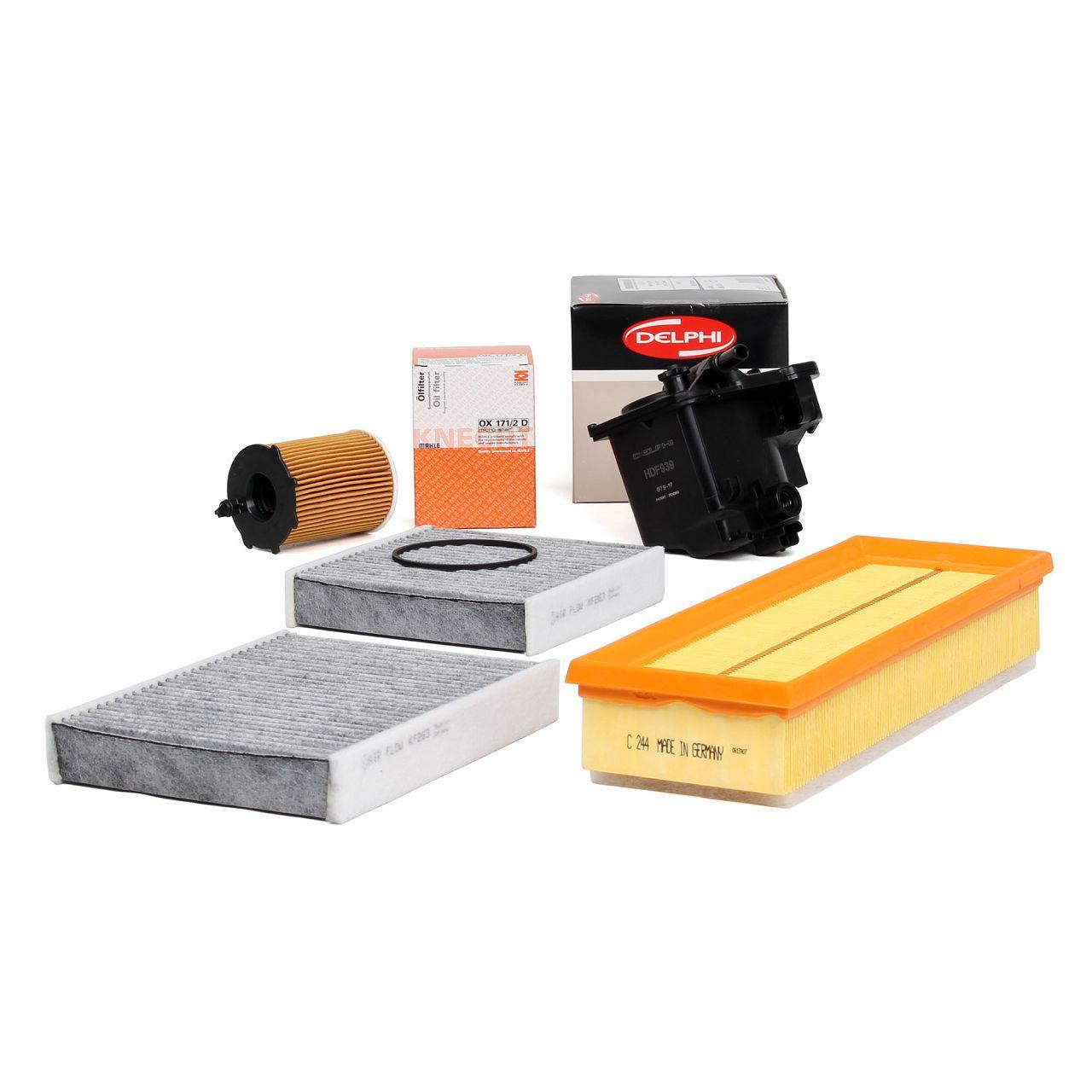 Inspektionskit Filterpaket Filterset für PEUGEOT 207 + SW + CC 1.6 HDI 90 109 PS