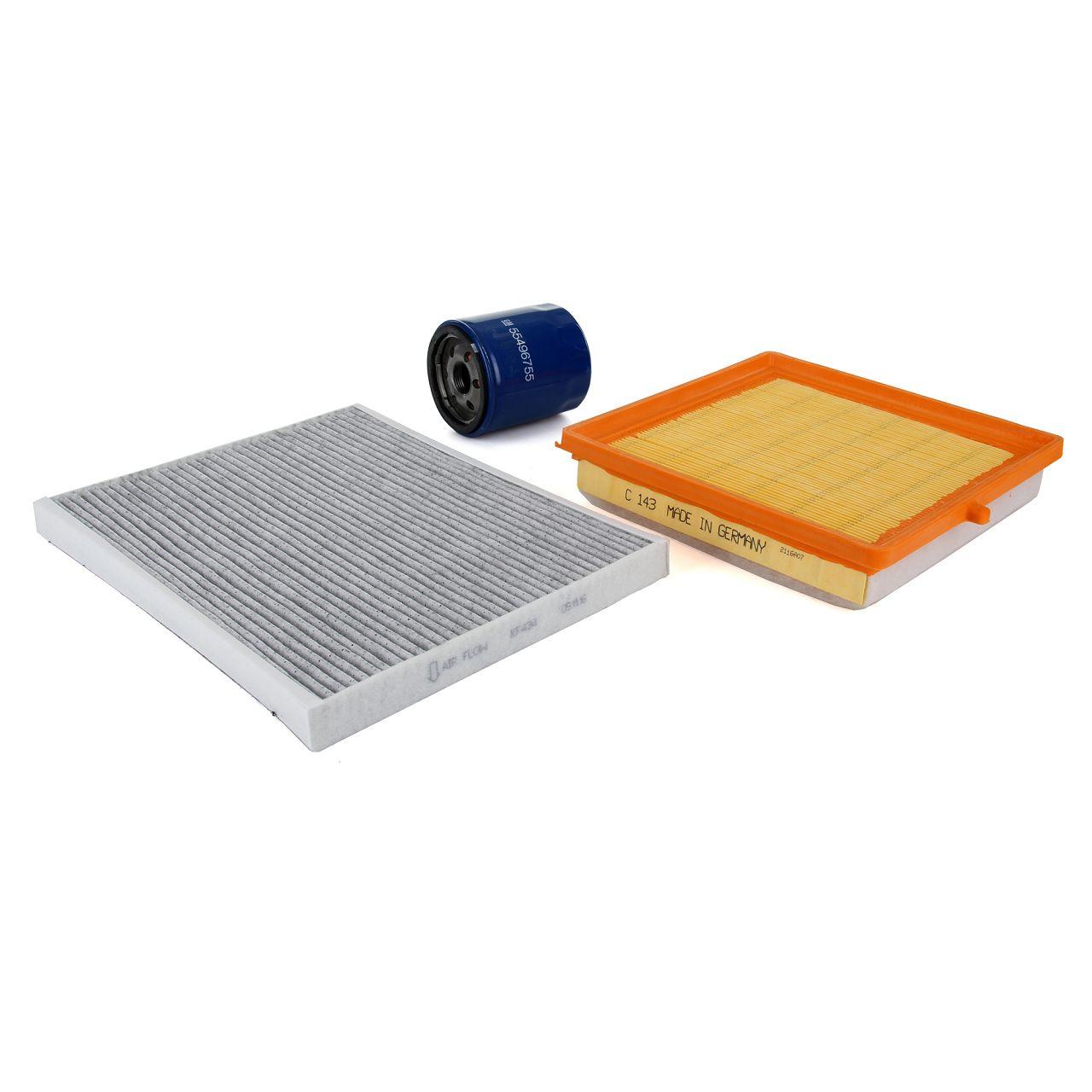 Inspektionskit Filterpaket Filterset für OPEL ADAM 1.0 90 / 115 PS ab 07.2014