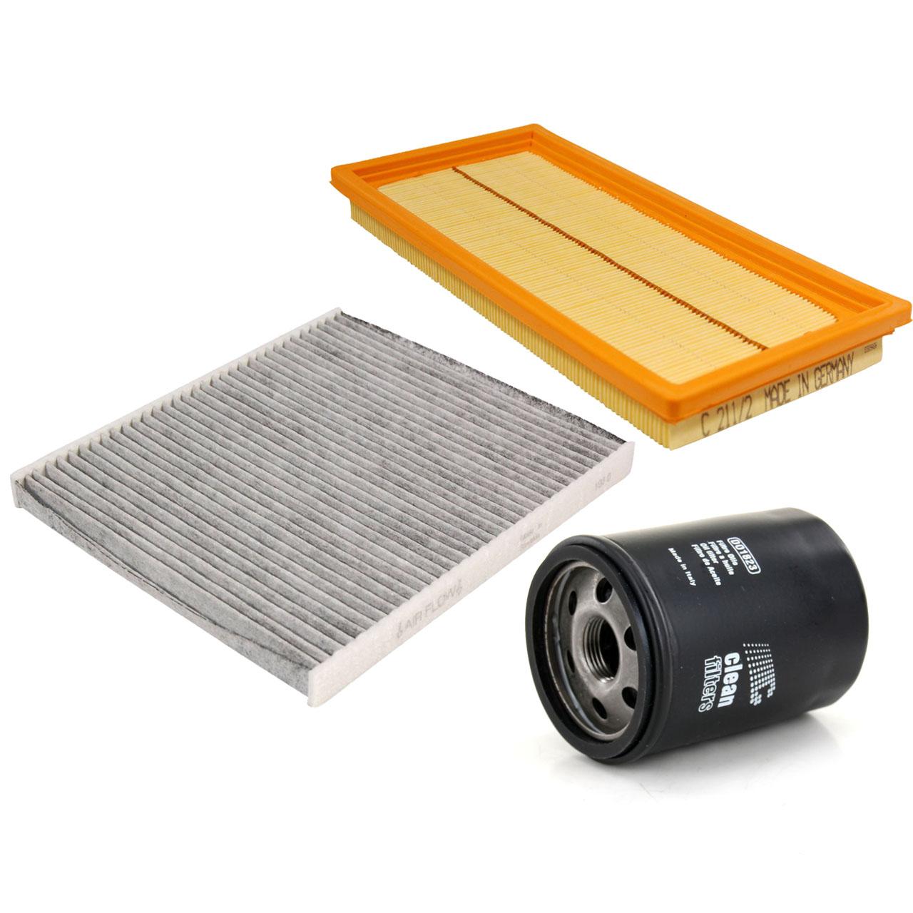 Filterpaket Filterset für Fiat 500 / C (312) bis 08.2011 Panda (169) 1.4 100 PS