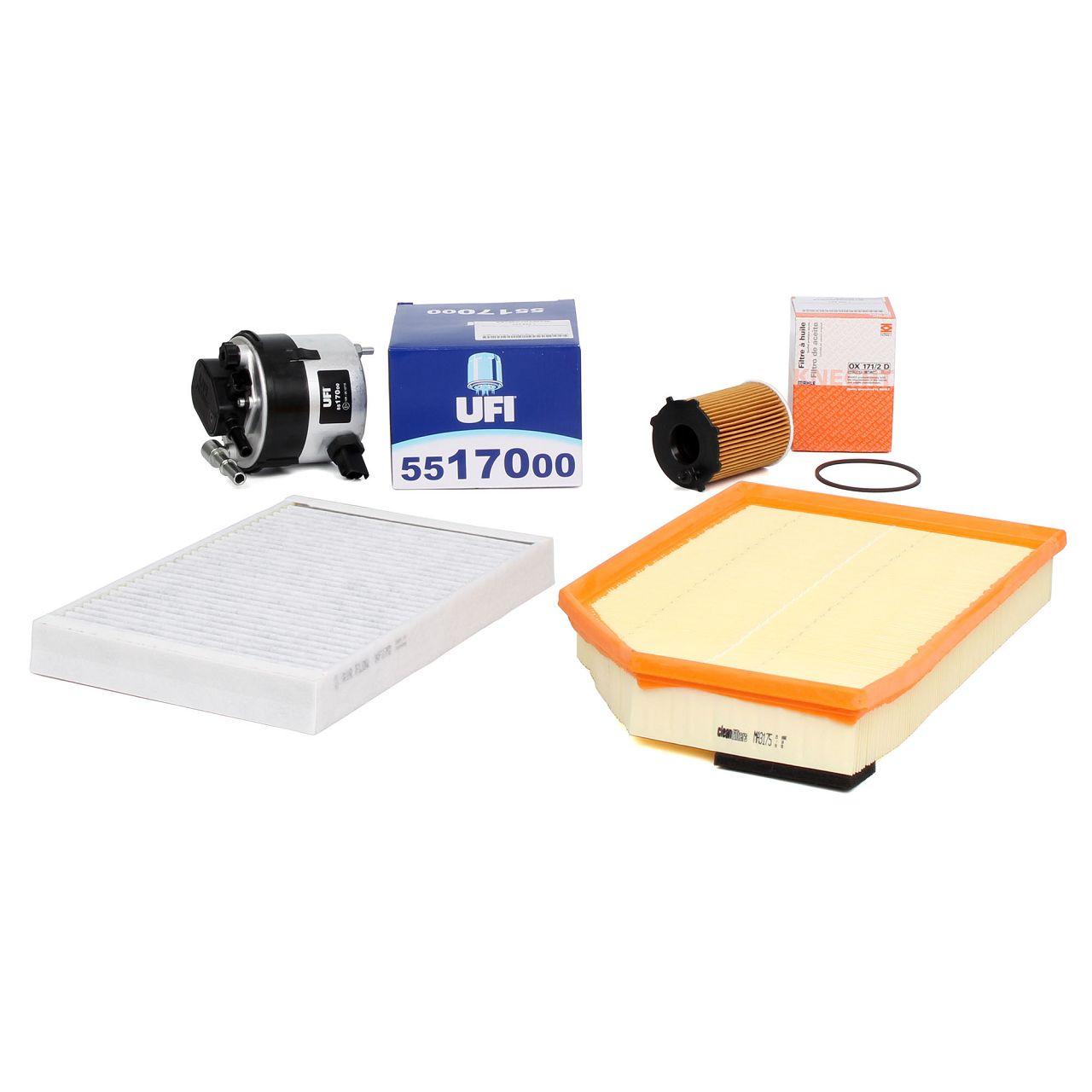 Inspektionskit Filterpaket für VOLVO S80 II 1.6 D DRIVe + V70 III 1.6 D 109 PS
