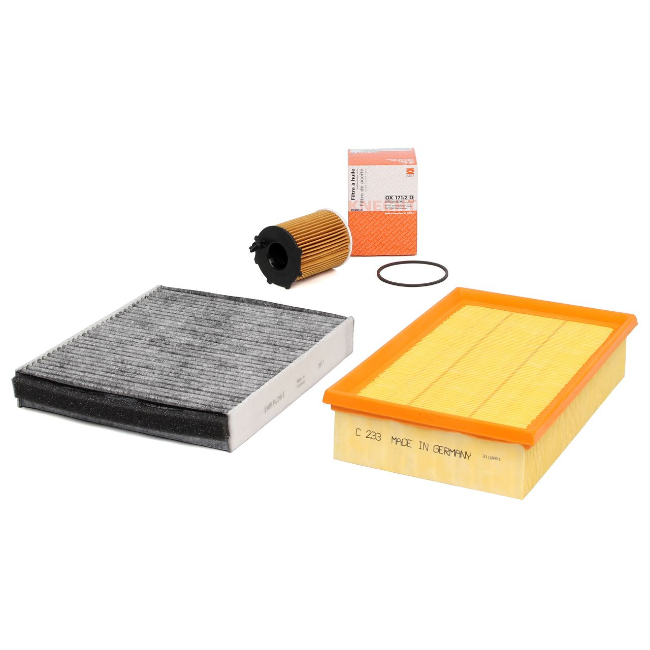 Inspektionskit Filterpaket für FORD FOCUS II MK2 1.6 TDCi 90-109 PS bis 03.2007