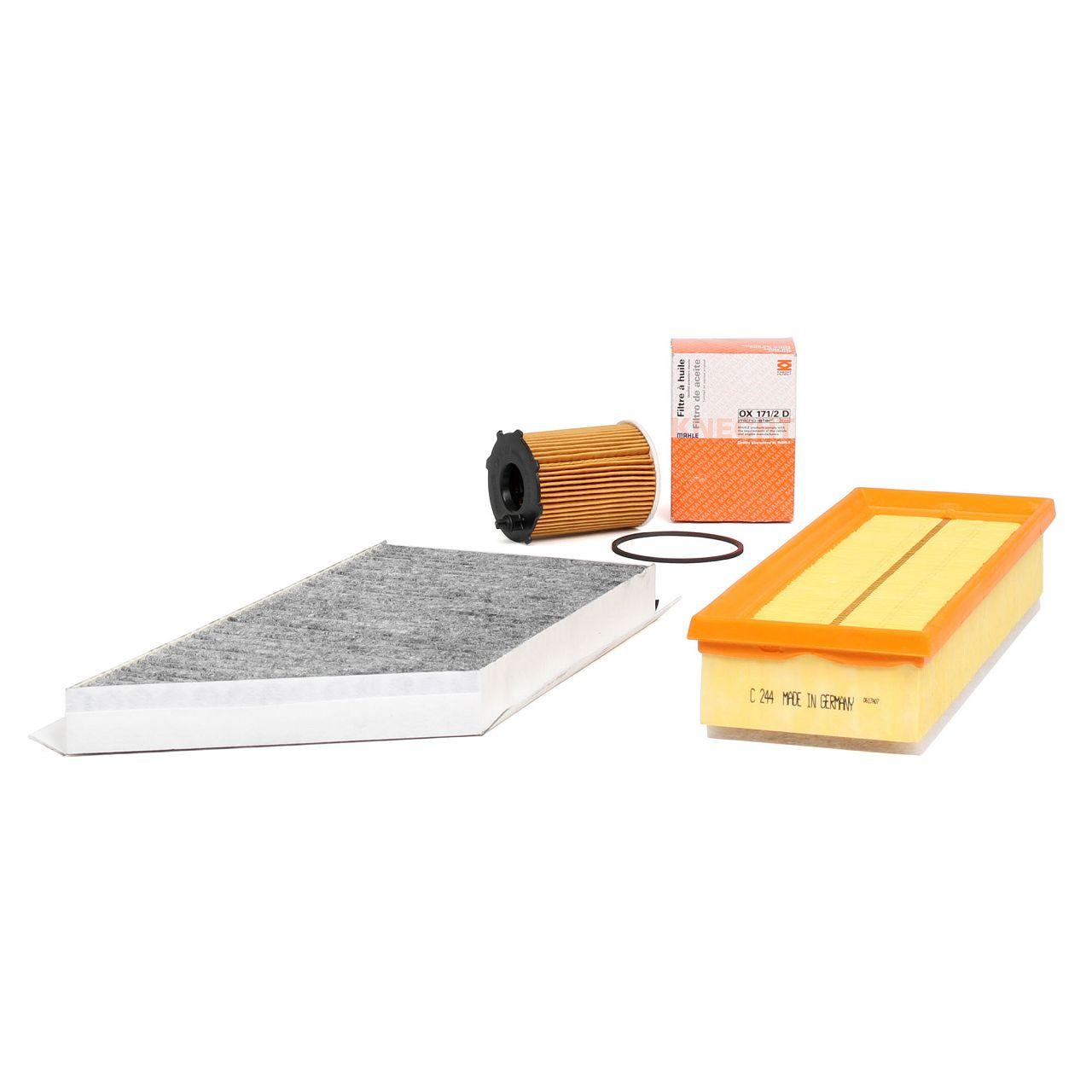 Inspektionskit Filterpaket Filterset für PEUGEOT 206 + SW + CC 1.6 HDI 110 109PS
